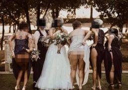 """Madrinhas fazem foto inusitada em casamento e chocam web: """"desnecessário"""""""